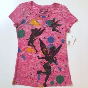 NWT Disney Couture Pink Tinkerbell Tee M